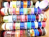 Dozens of Spools of Decorative Ribbon