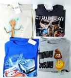 Kids' Assorted Licensed T'-Shirts, 100 Units