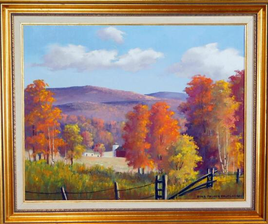 Edna Palmer Engelhardt Pocono Mountains Countryside, O/C