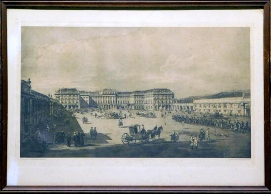 Giovanni Antonio Canal (Canaletto), Schonbrunn (Hofseite) Hapsburg Print