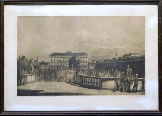 Canaletto, Der Furstl, Liechtensteinsche Sommerpalast In Der Rossau (Gartenseite) Print