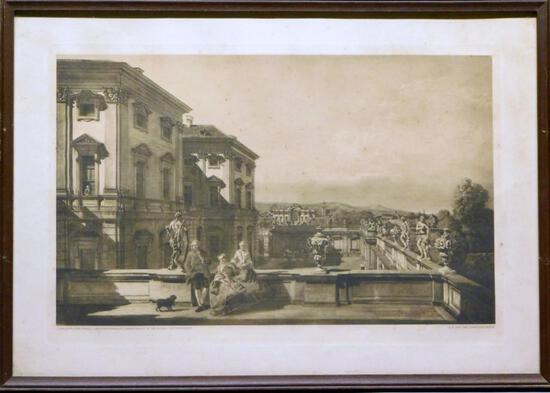Canaletto, Der Furstl, Liechtensteinsche Sommerpalast In Der Rossau (Seitenansicht) Print