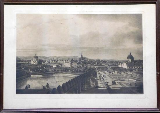 Giovanni Antonio Canal (Canaletto), Wien Vom Belvedere Print
