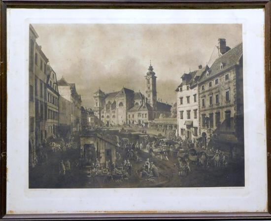 Giovanni Antonio Canal (Canaletto), City of Freiung, Vienna, Print