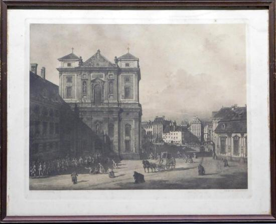 Giovanni Antonio Canal (Canaletto) City of Schottenkirche, Print