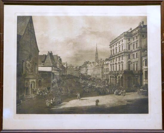 Giovanni Antonio Canal (Canaletto), Der Neue Markt Print
