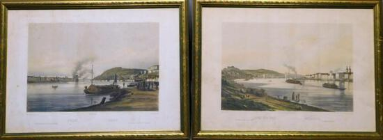 Two European Color-Toned Lithographs