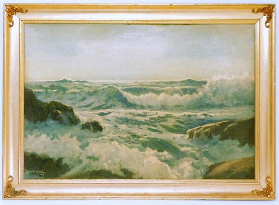 Robert Wood Seascape, Framed, Signed