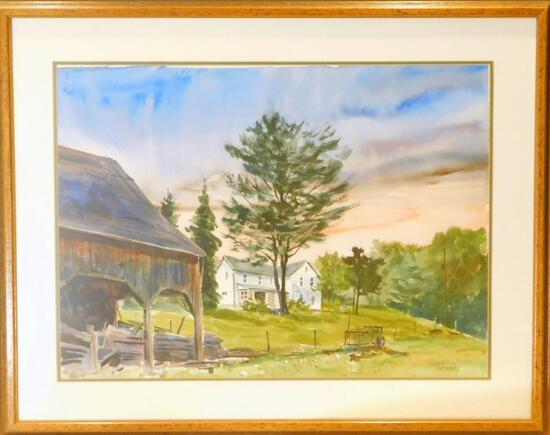 Timothy J. Weaver Fine Art, Pennsylvania Farm Scene, Watercolor