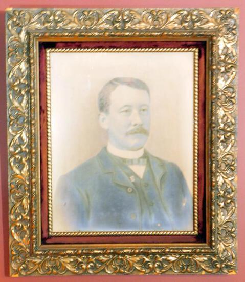Vintage Gentleman's Portrait Print, Framed