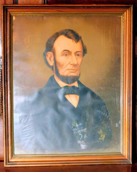 Framed Portrait of President Abraham Lincoln