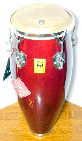 TOCA Kaman Congo Drum, Includes Padded Stool