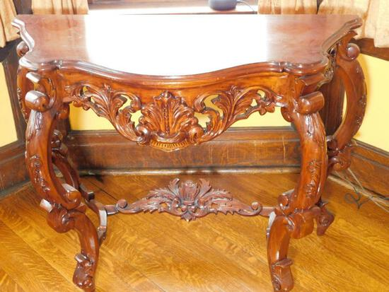Ornate Wooden Console Table