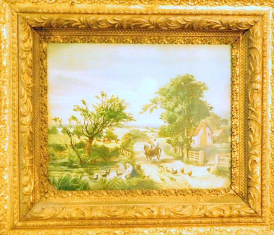 Framed Countryside Farm Artwork