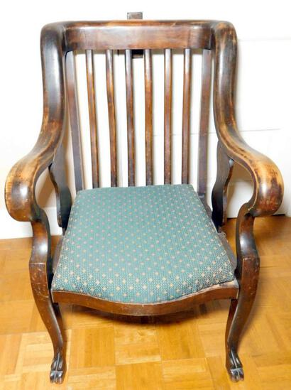 Antique Upholstered Wooden Chair