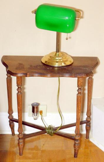 Two Small Side Tables with Lamps