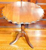 Round Tilt-top Scalloped Edge Table