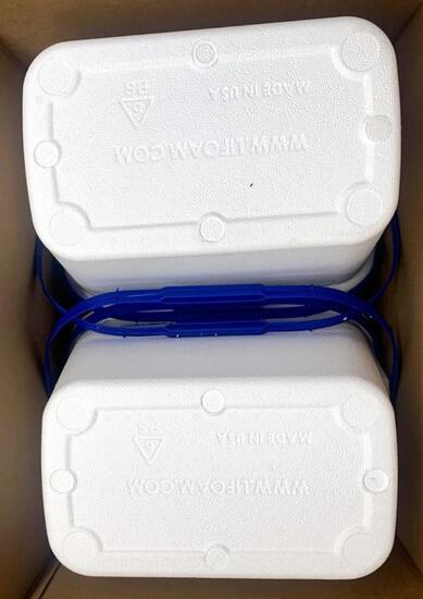 Made in USA Styrofoam Coolers with Handles, PALLET, 96 Units