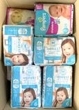 Pampers Cruisers size 3 and Honest Co. Gentle & Absorbent Diapers size 6, 24 Units