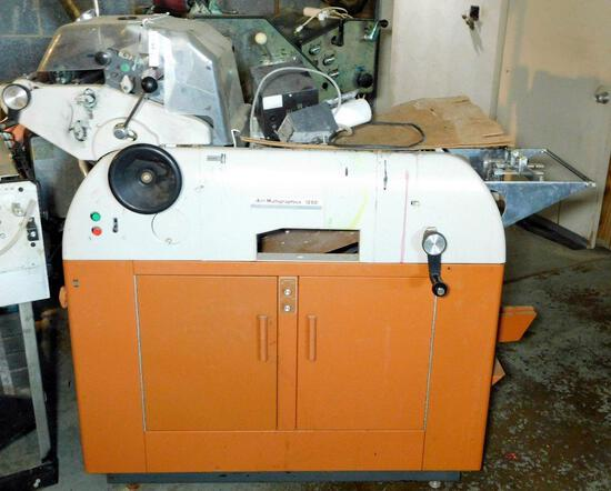 AM Multigraphics 1250 Multilith Offset Printing Press