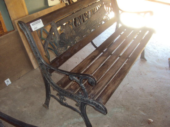 Wood And Metal Park Bench With Auctions Online Proxibid