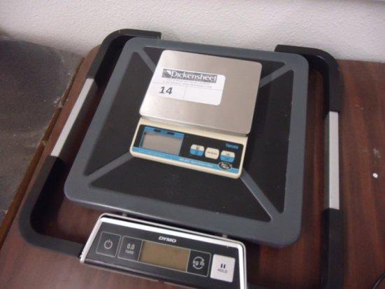 DYMO S250 250LB DIGITAL SCALE AND YAMATO DKS-3002 4LB SCALE