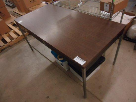 LAMINATE TOP  METAL BASE 5FT TABLE