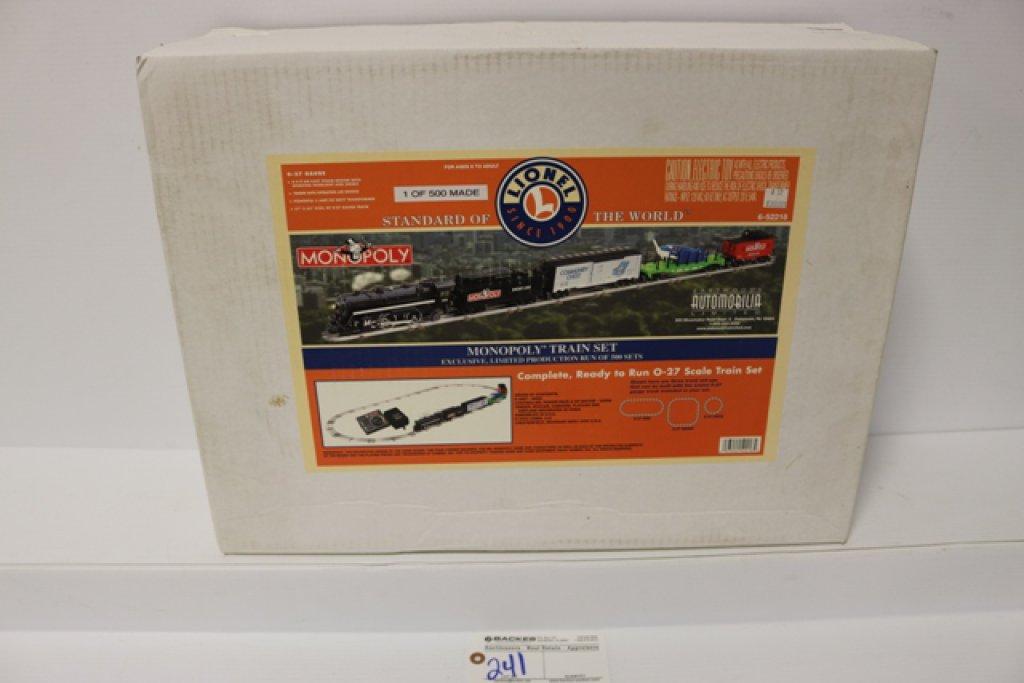 Monopoly train set - O27 gauge - 6-52218 - 4/4/2 engine w/smoke - tender wi