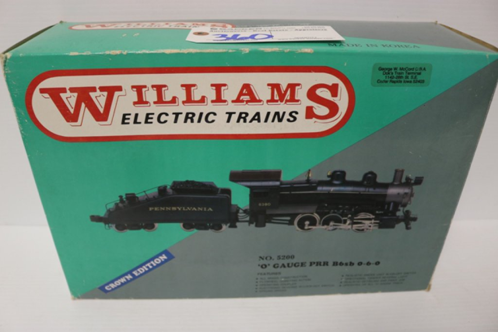 Williams PRR 0-6-0 B6SB 5200 o gauge