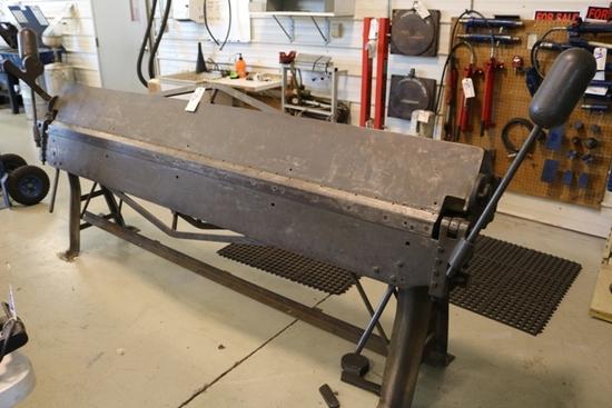 Dries & Krump Chicago size 818 - 8' sheet metal hand brake, s/n 78489