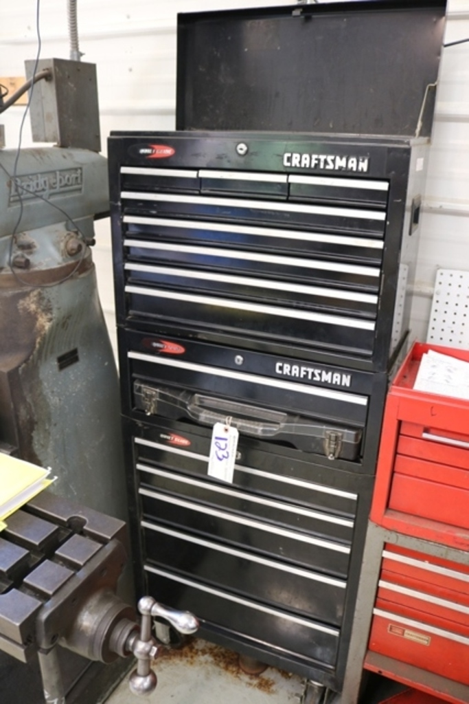 Craftsman black roll away tool cabinet & top cabinet