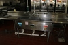 """108"""" stainless 3 bin sink with drain drops, pre rinse and drain boards"""