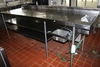 """32"""" x 108"""" stainless island prep station with stainless double under shelve"""