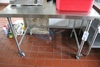 """Jero 32"""" x 48"""" stainless portable table - open base"""