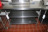 """30"""" x 48"""" stainless table with double stainless under shelves - good table"""