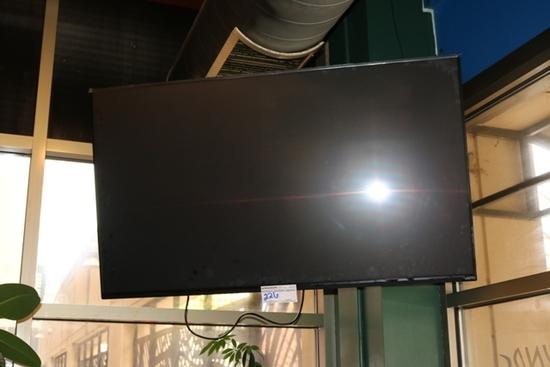 "Vizio 60"" flat screen with wall mount bracket & remote"
