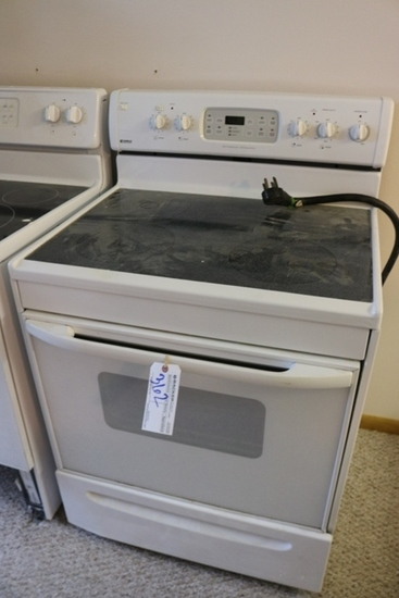 "Kenmore 30"" 4 burner glass top electric range with oven"