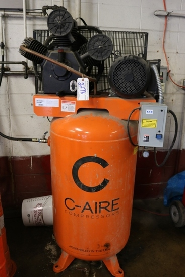 C-Aire A075V080-1230 80 gallon vertical air compressor 7.5hp, 1 ph