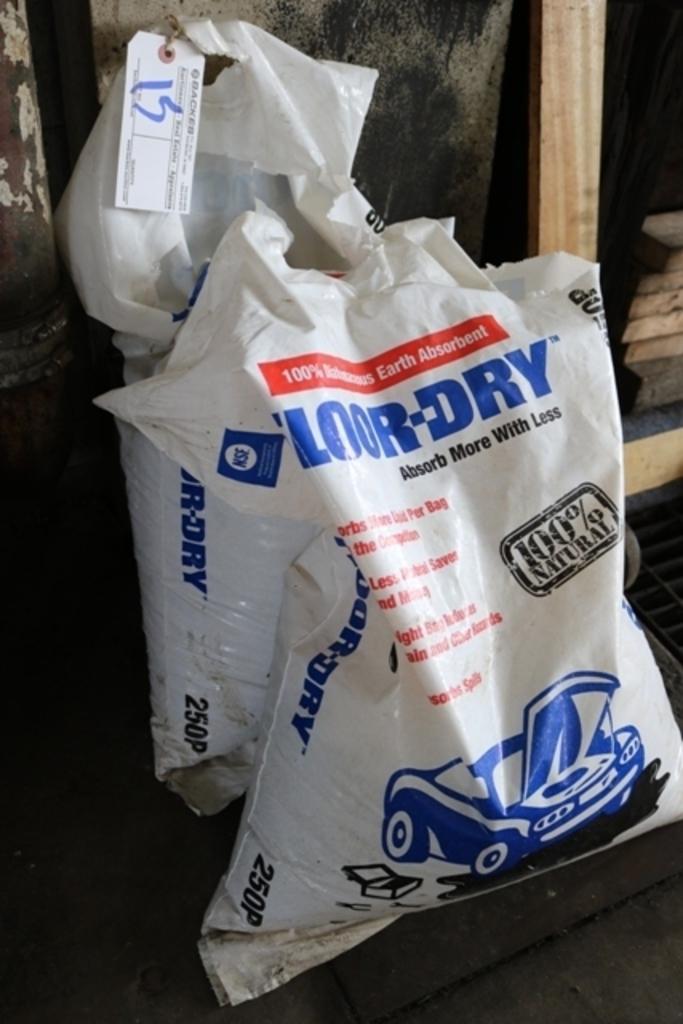 2 Open bags floor dry