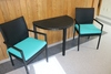 3 piece wicker set with 2 chairs and table
