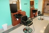 Complete 2 station hair salon package to include: 2 Collins Cherry finish w