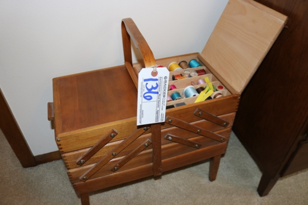 Sewing cabinet with inventory