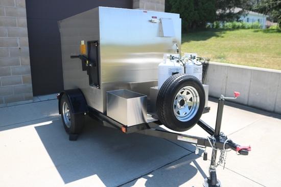 2016 Southern Pride model SPK-500 portable smoker, single axle trailer with