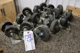 All to go - lot of castors