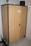 Portable 2 door cabinet with inventory