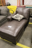 Leather brown sectional end piece