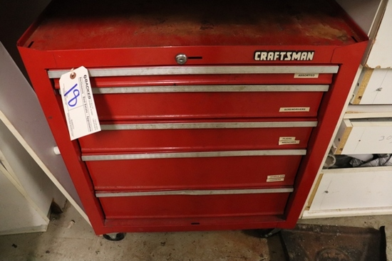 """26"""" Craftsman rolling tool box with tools"""