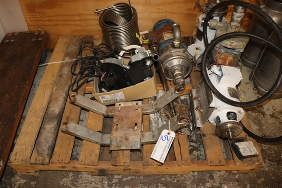 Pall to go - misc pumps, coils, controls - buying in as is condition