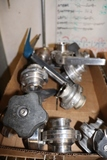 Box flat to go - approximately 9 used stainless shut off valves