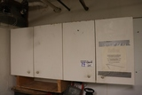 All to go - white wall cabinet loaded with inventory